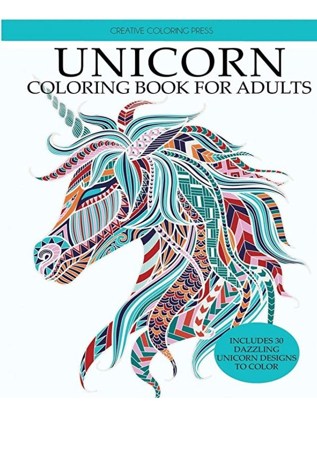 BEST PDF Unicorn Coloring Book Adult Coloring Book With Beautiful Uni…