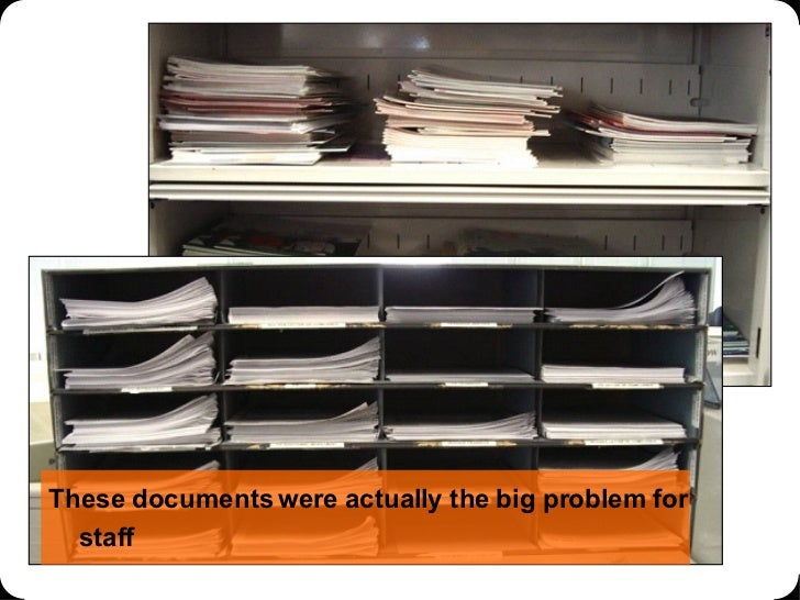 These documents were actually the big problem for staff