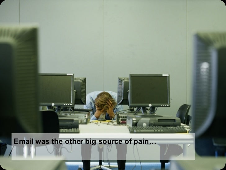Email was the other big source of pain…