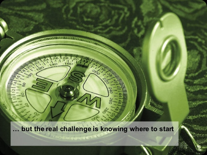 …  but the real challenge is knowing where to start