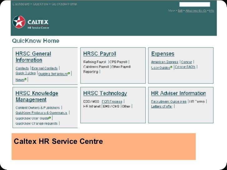Caltex HR Service Centre