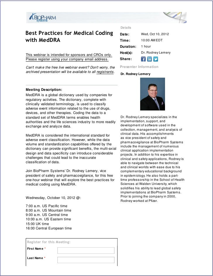 Best Practices for Medical Coding with MedDRA
