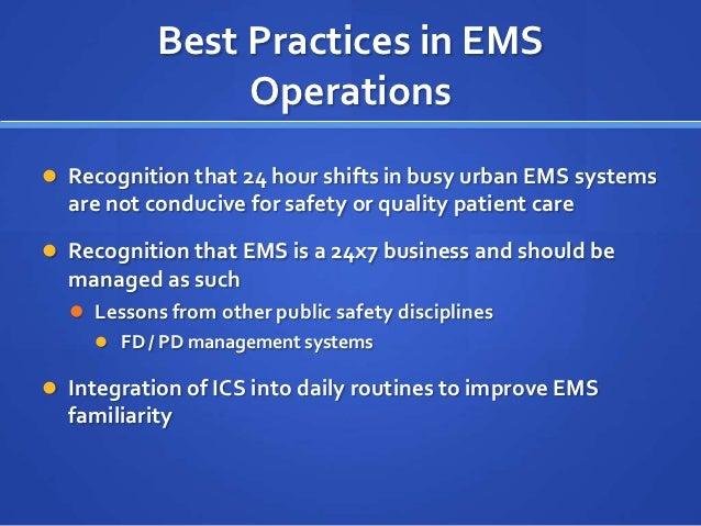 Safe ambulance operations