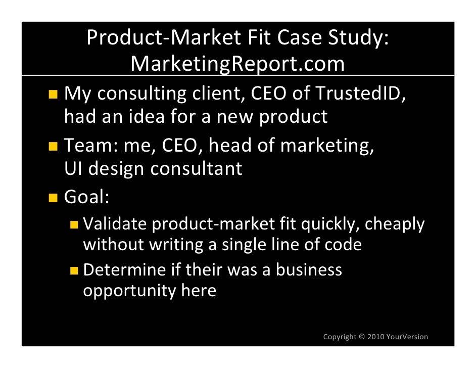 "Product‐MarketFitCaseStudy:     DevelopingProductConcept ProductConceptwas""marketingreport"" thatlet consumersc..."