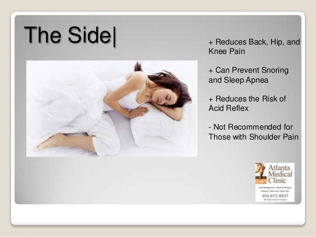 Best Sleeping Positions Pain Management