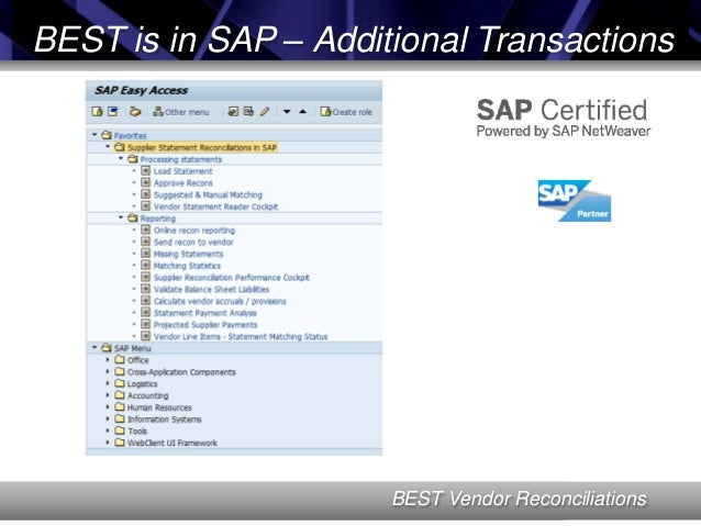Vendor reconciliation in SAP