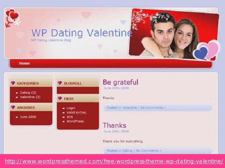 free wordpress theme for dating website