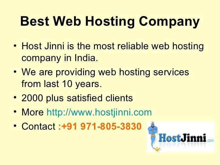Web Hosting Services India Slide 2