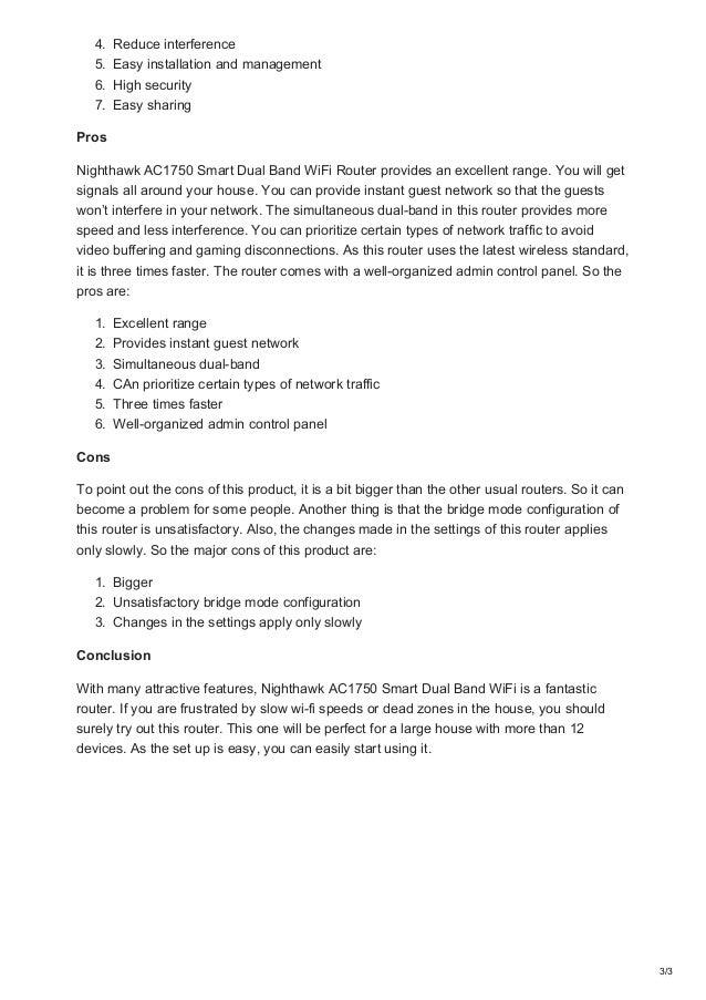Best-wireless-router-reviews net Netgear Nighthawk AC 1750 smart dual…