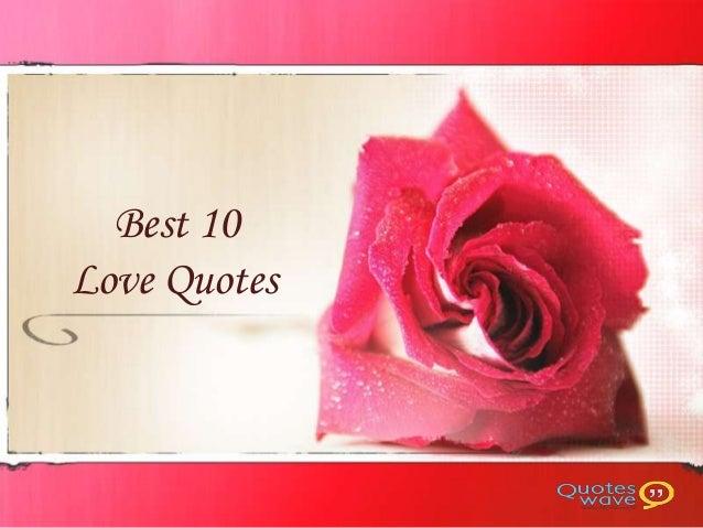 Best 10Love Quotes