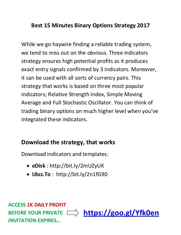 15 minute binary option strategy