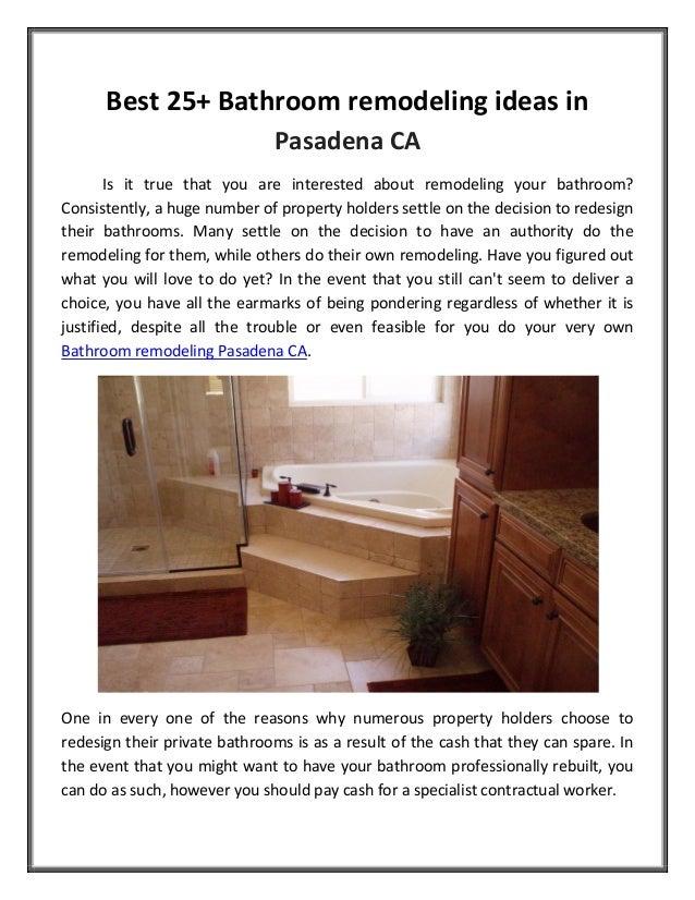 Best 25 Bathroom Remodeling Ideas In Pasadena Ca