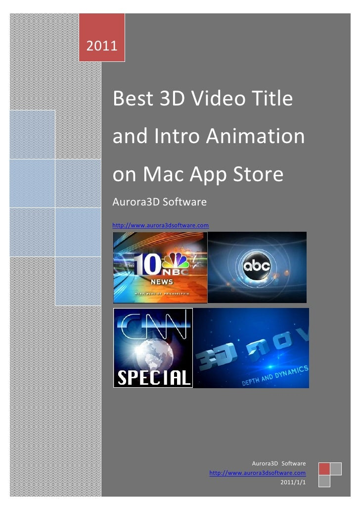 Best 3d Video Title And Intro Animation App For Mac