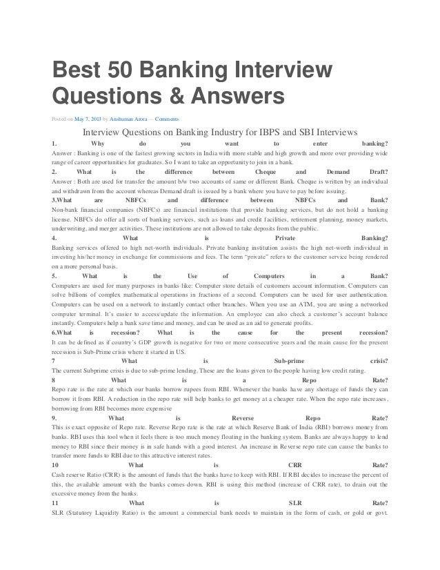 BANK INTERVIEW PREPARATION PDF DOWNLOAD