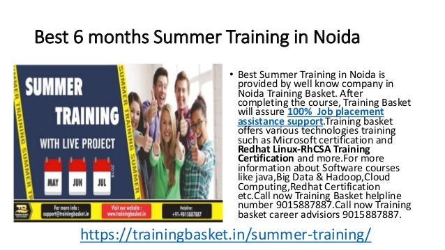 Best 6 months Summer Training in Noida • Best Summer Training in Noida is provided by well know company in Noida Training ...