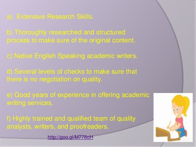 Academic writing services company