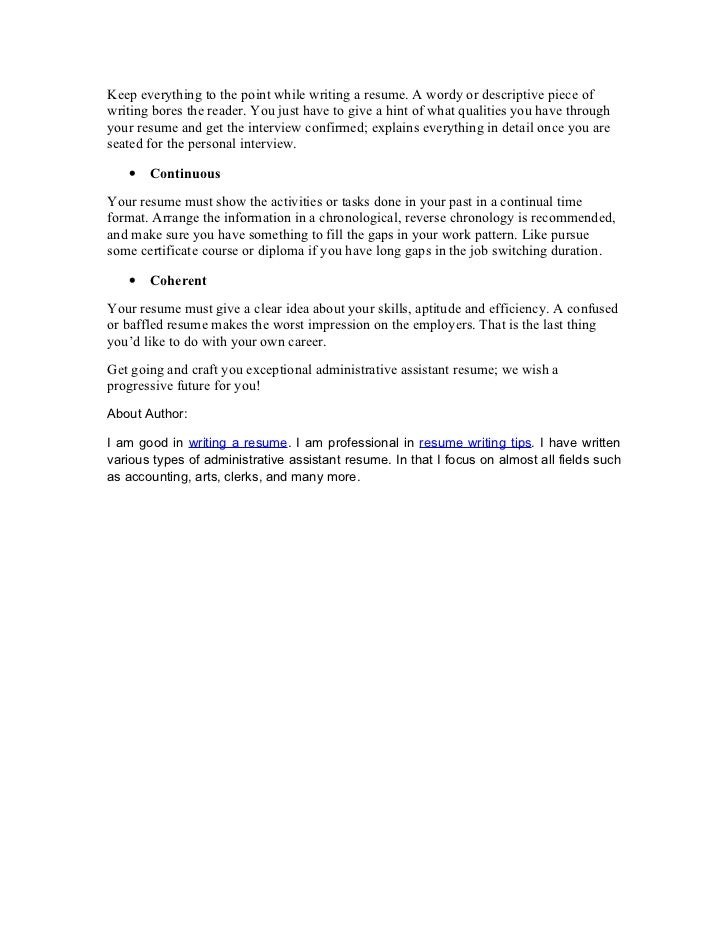 Concise; 2.  Objective Lines For Resume
