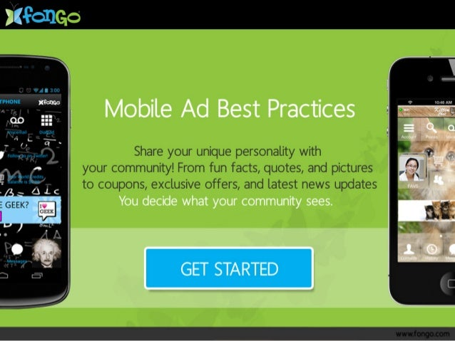 Mobile Ad Best Practices