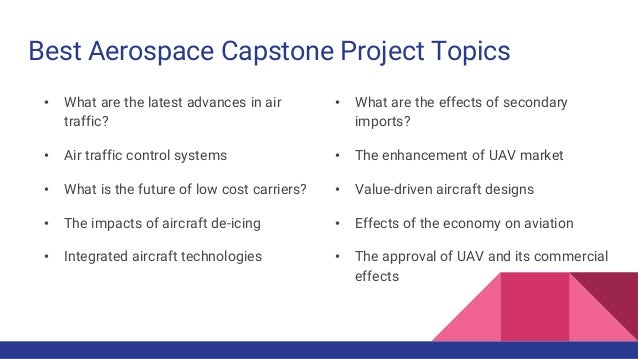 100+ Aviation Capstone Project Ideas in One Place