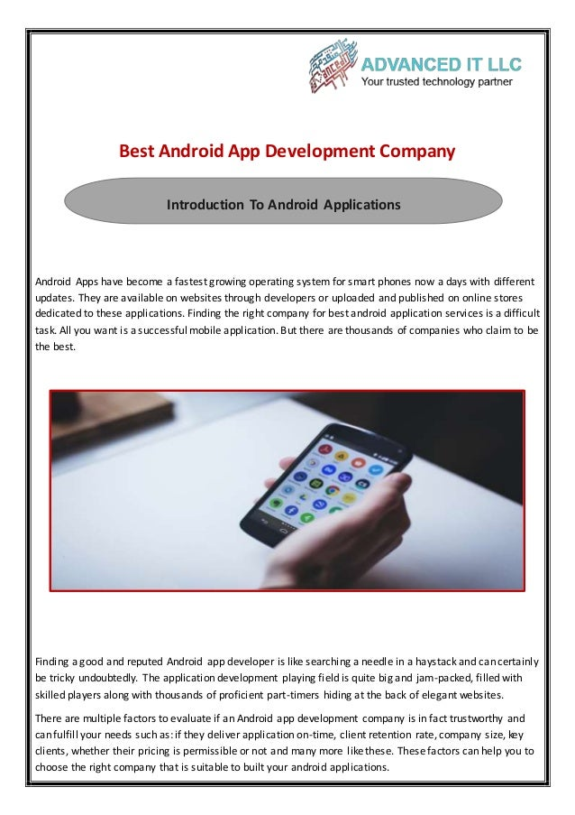 Find the Best android app development company In Oman