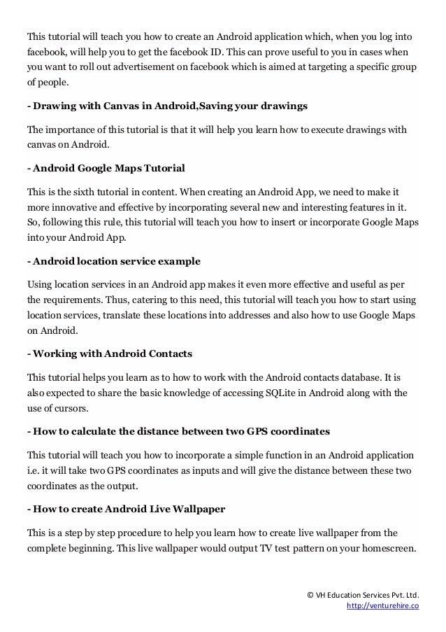 Best Android Application Development Tutorials for Beginner