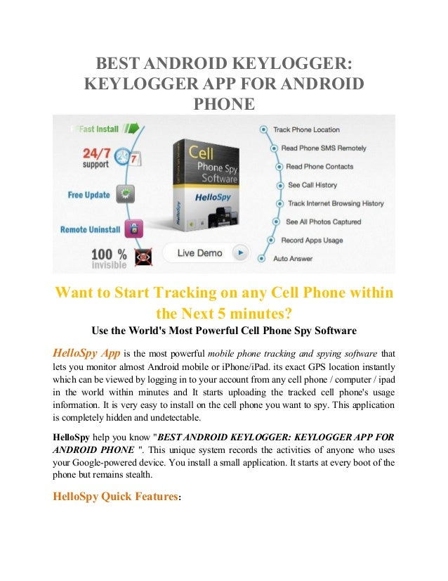 Android Keylogger Best Free Keylogger App for Android