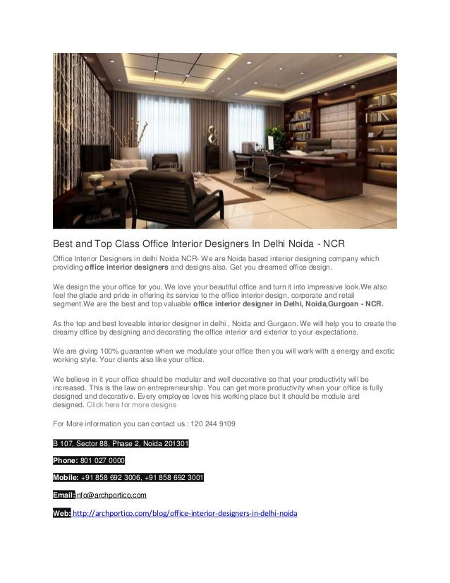 Best And Top Class Office Interior Designers In Delhi Noida Mesmerizing Best Schools For Interior Design Exterior