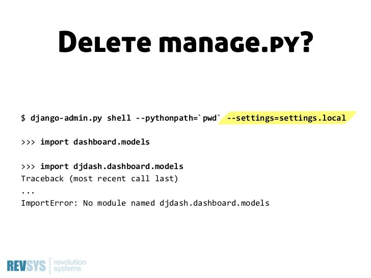 Don't do this …INSTALLED_APPS += [p for p in os.listdir(BASE)                   if os.path.isdir...