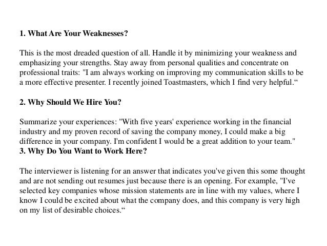 2 1 what are your weaknesses - What Are Your Weaknesses Interview Questions And Best Answers
