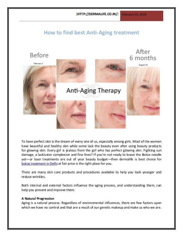the best anti aging treatments
