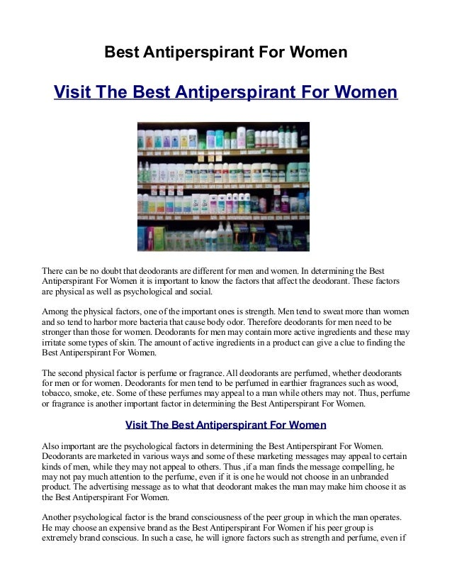 Best Antiperspirant For Women   Visit The Best Antiperspirant For WomenThere can be no doubt that deodorants are different...
