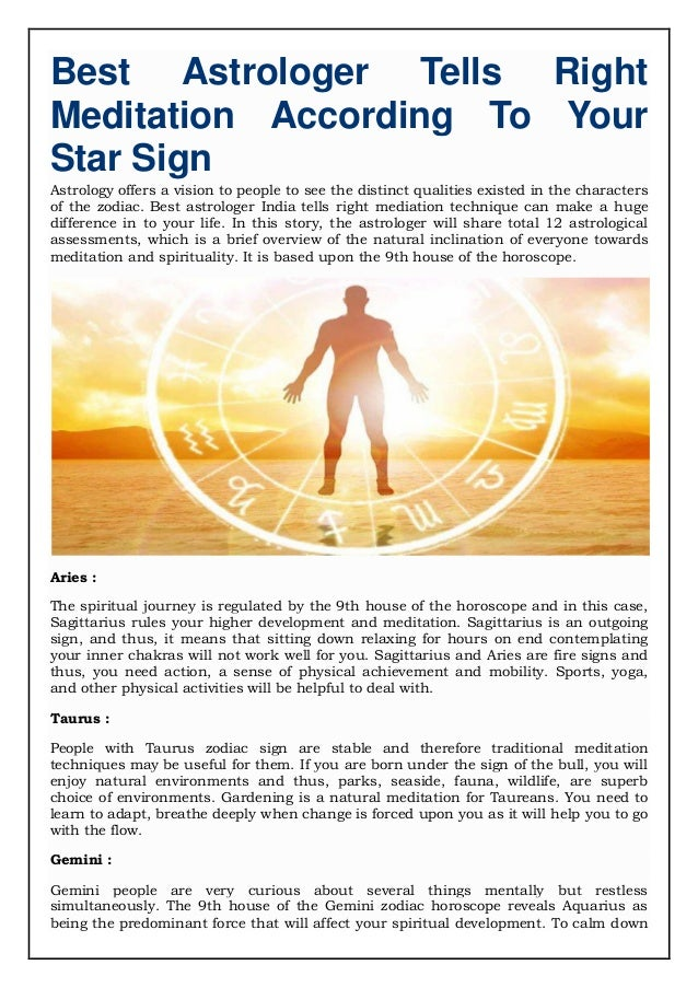 Best Astrologer Tells Right Meditation According To Your Star Sign