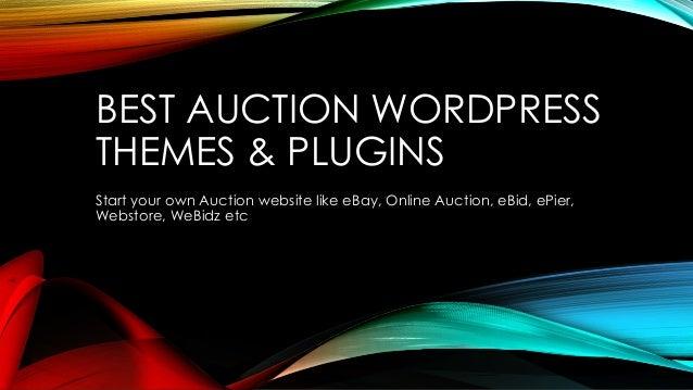 Best Auction WordPress Themes & Plugins