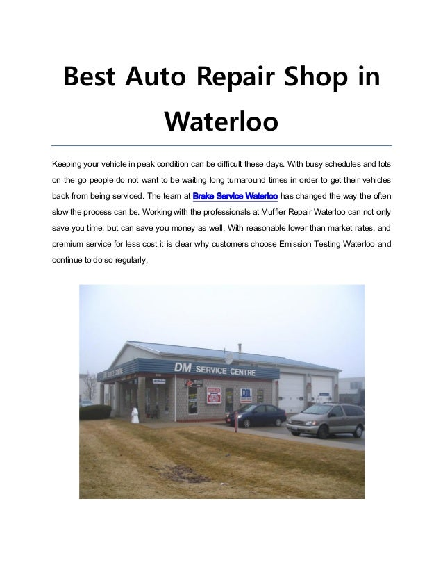 Best Auto Repair Shop in Waterloo Keeping your vehicle in peak condition can be difficult these days. With busy schedules ...