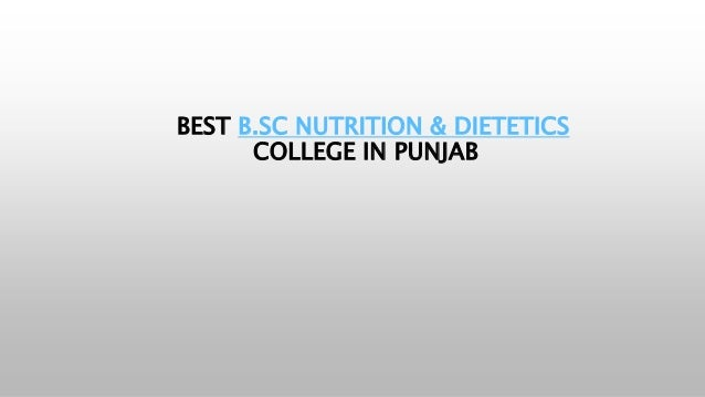 BEST B.SC NUTRITION & DIETETICS COLLEGE IN PUNJAB