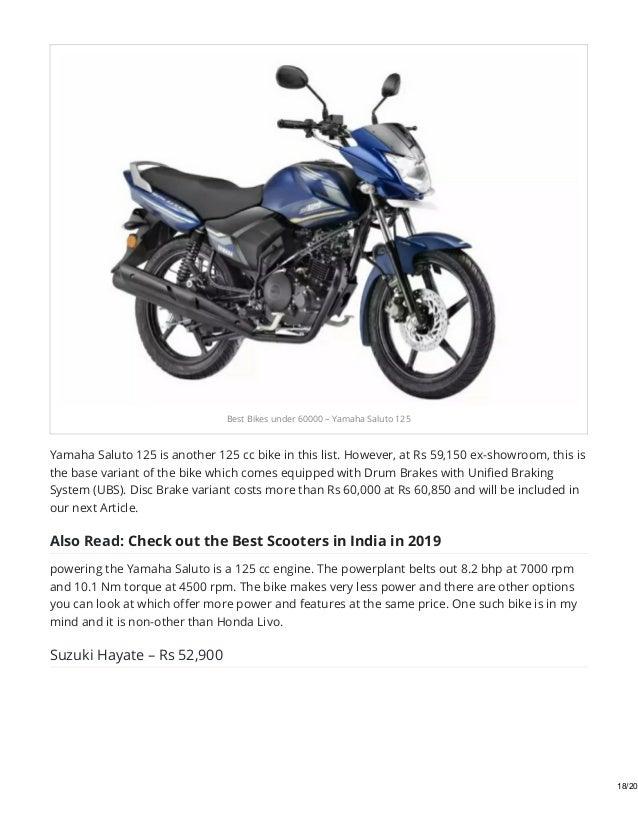 Best Bikes Under 60000 In India In 2019 Motorcyclediaries In