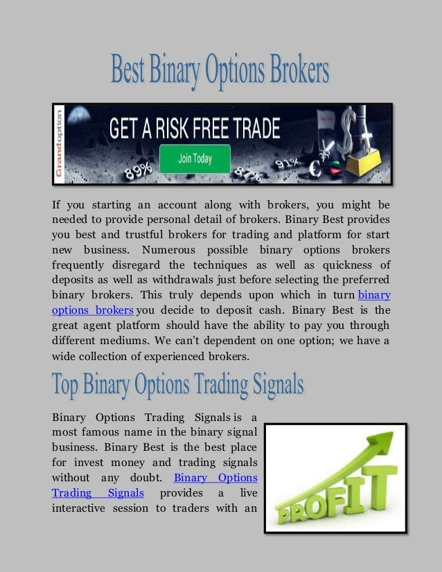 Reliable binary options brokers