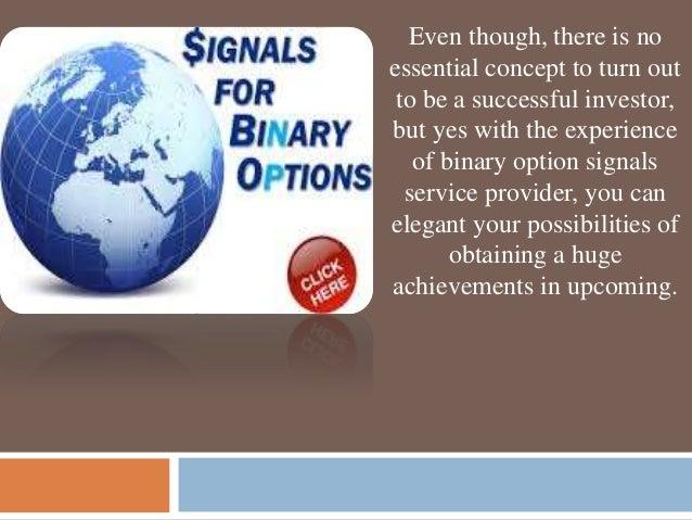 The best binary option signal service