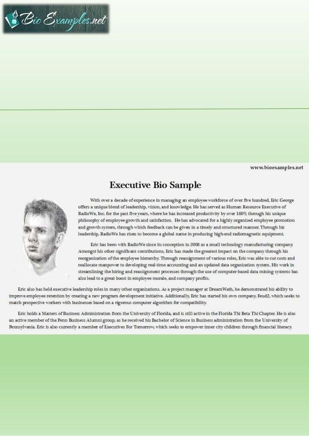 executive bio template
