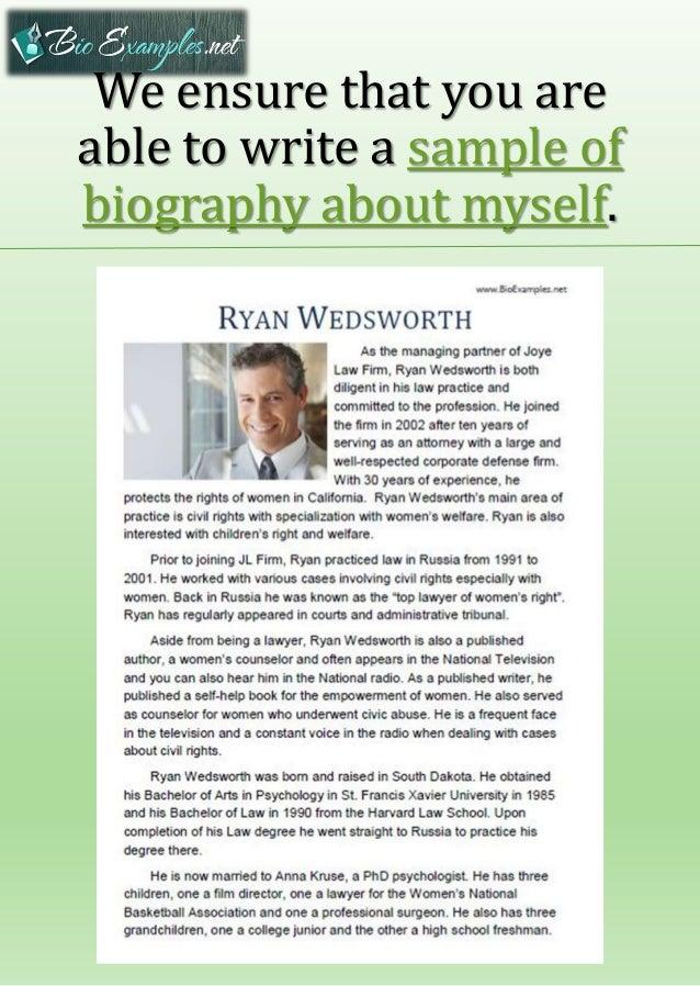 Biography Example. Executive Biography Sample - Leadership ...