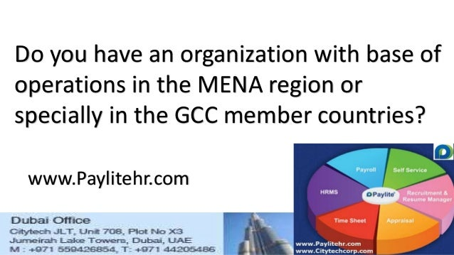 Do you have an organization with base of operations in the MENA region or specially in the GCC member countries? www.Payli...
