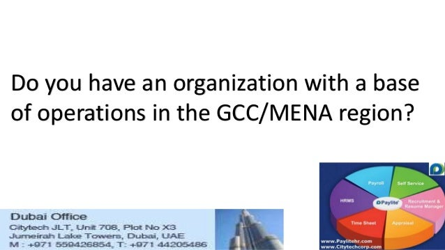 Do you have an organization with a base of operations in the GCC/MENA region?