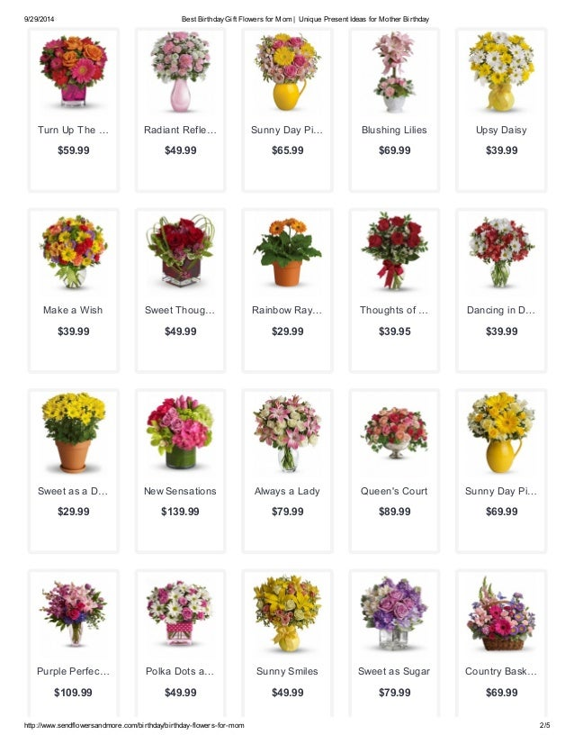 2 9 29 2014 Best Birthday Gift Flowers For Mom