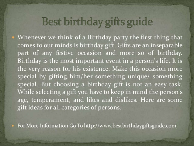  Whenever we think of a Birthday party the first thing that comes to our minds is birthday gift. Gifts are an inseparable...