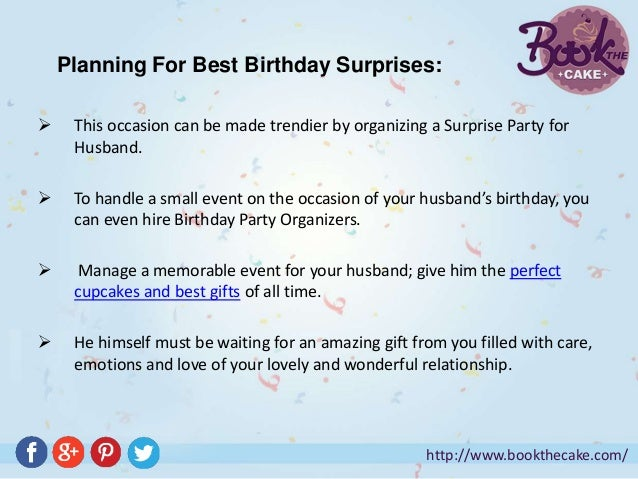 Make Your Husband's Birthday Remarkable by Best Birthday