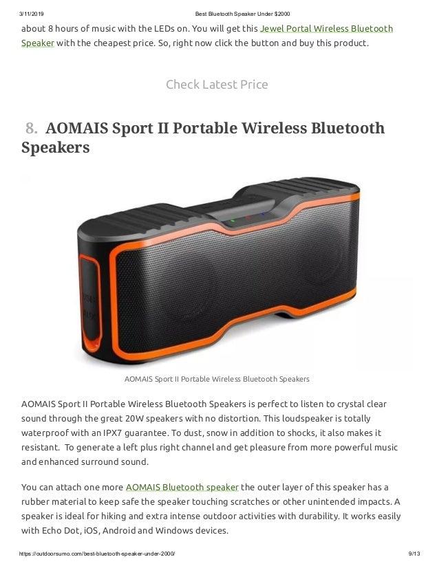 Bluetooth Speakers Price 2000
