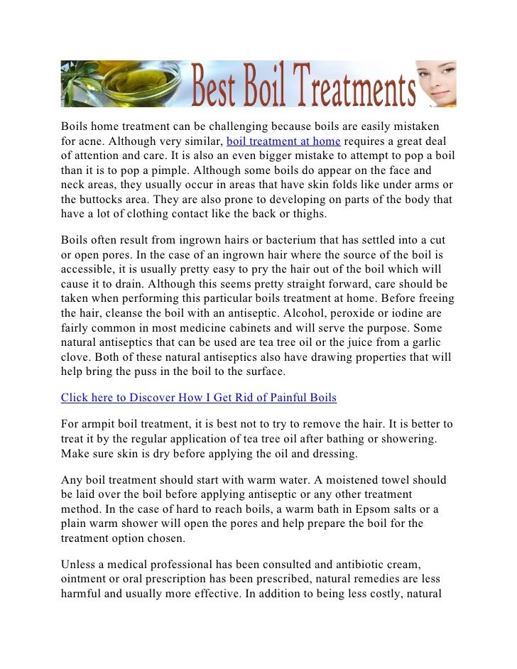 Best Boil Treatments - Handling Boil Treatment at Home