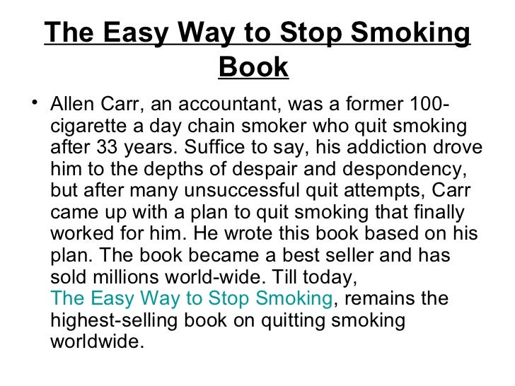 The Easy Way to Stop Smoking (Audiobook) by Allen Carr