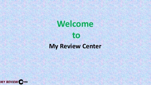 Welcome to My Review Center