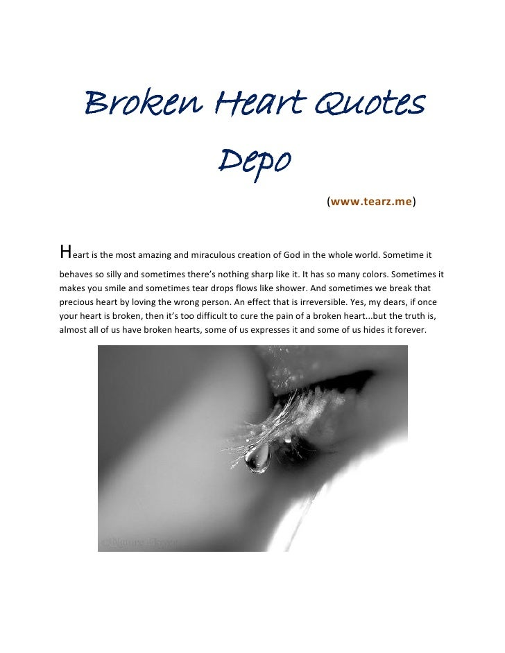 Broken Heart Quotes             Depo                                                                               (www.te...